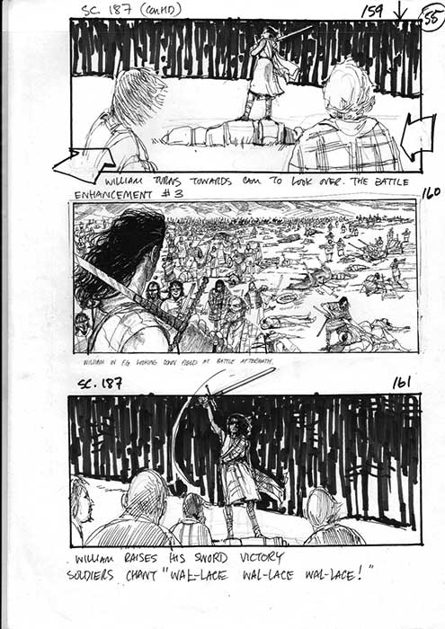 Braveheart: The Stirling Sequence - Storyboards